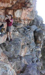 Treffor on the ledge