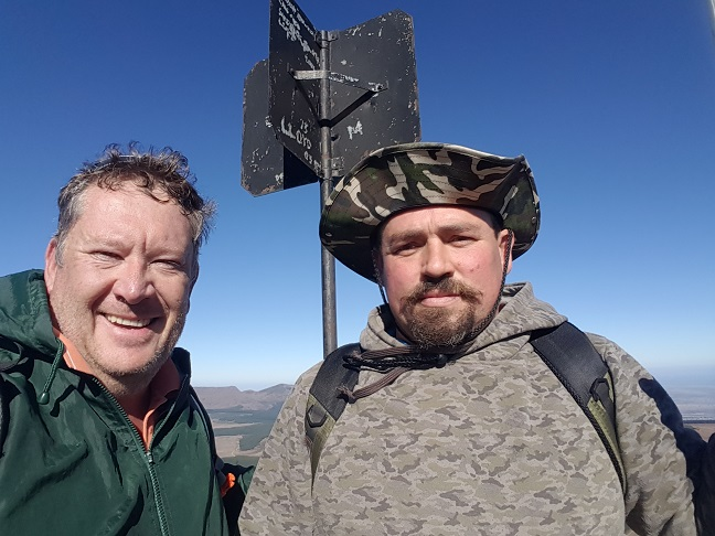 Hennie and I at the Gaikaskop trig beacon